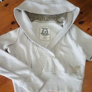 American Eagle fleece cropped hoodie